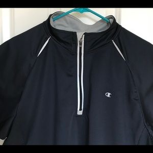 Champion 1/4 Zipper Blue Pullover Jacket XL